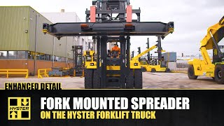 Forklift Truck with Fork Mounted Spreader – Hyster® Special Truck Engineering