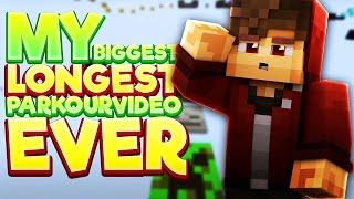 My LONGEST Minecraft Parkour Video.. EVER! (Longest Minecraft Parkour Map)