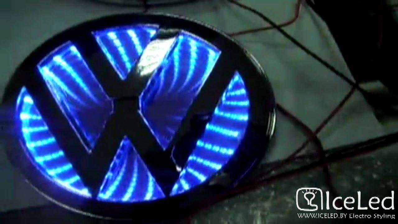 Led Light Bulbs For Cars >> 3D NEW LED LIGHT EMBLEM LOGO BADGE FOR CARS - YouTube