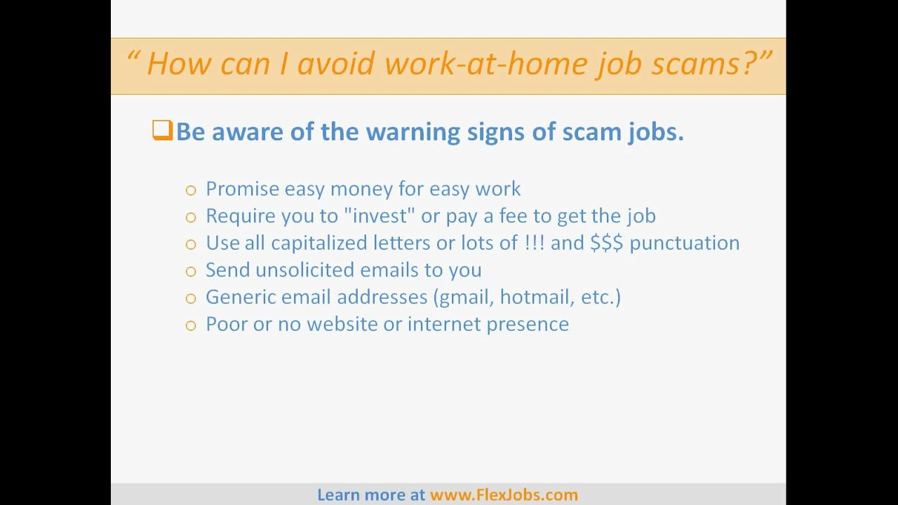 is work at home real or fake