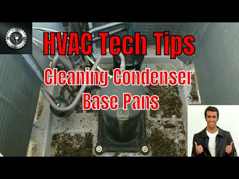 Cleaning A Condenser Unit Base Pan
