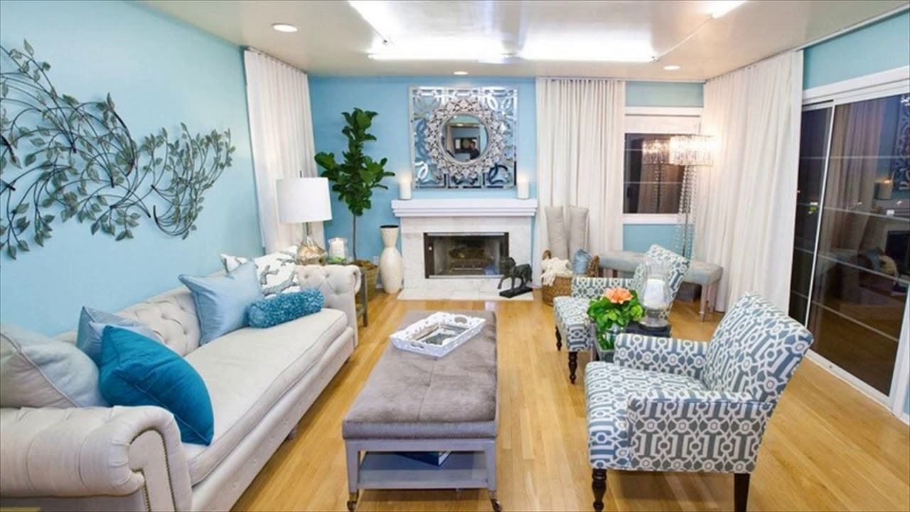 Sky Blue Living Room Paint Colors - YouTube