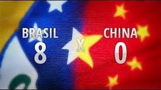 Brasil 8 x 0 China - Amistoso Internacional 10-09-2012 - Jogo Completo
