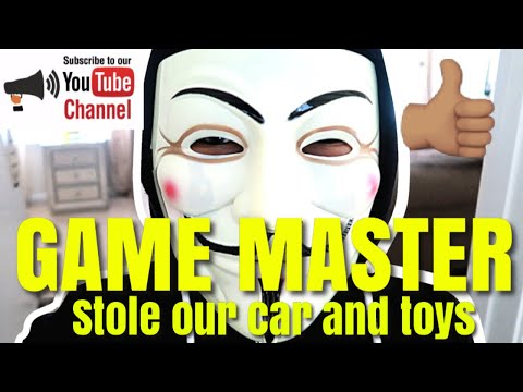 GAME MASTER STOLE DADDY'S CAR AND CAESAR'S TOYS: EPIC PRANK