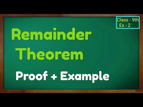 Remainder Theorem Class 9th