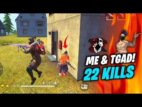Me and TGAD 22 Kills Best Duo vs Squad Situation Gameplay - Garena Free Fire