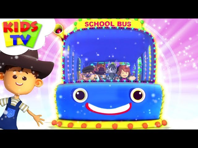 Wheels On The Bus | Christmas Carols For Kids | Little Eddie Nursery Rhymes - Kids TV