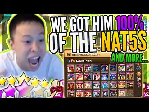 Double LD NAT 5 Summons! - Worlds 1st FULL NAT 5 Collection! Main Elements! - Summoners War
