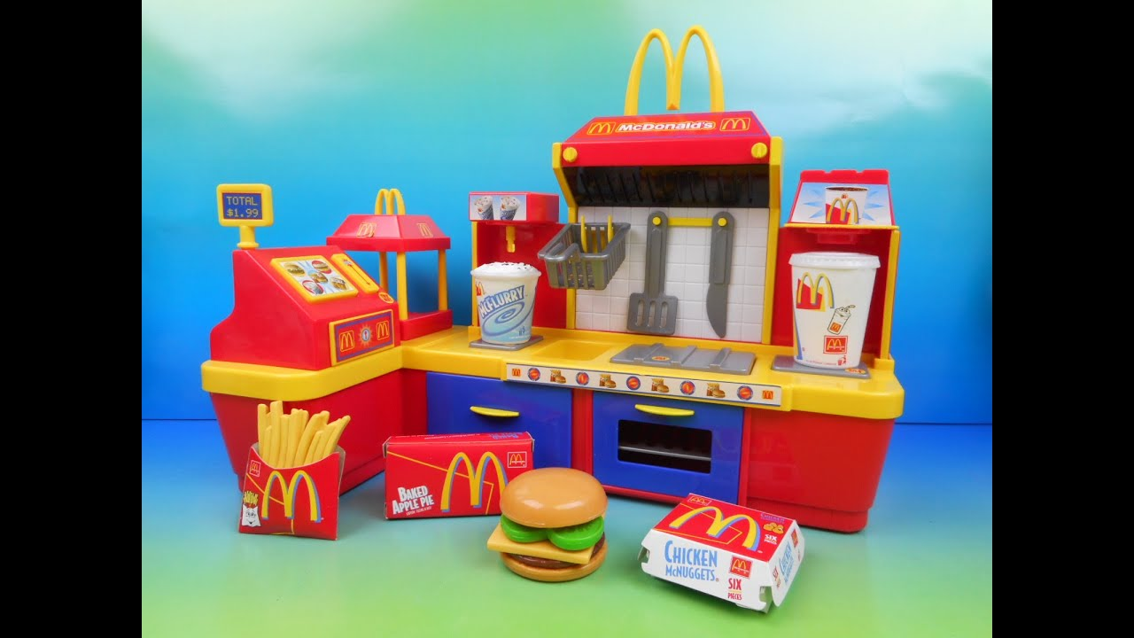 Mcdonald S Electronic Fast Food Center 18 Piece Kid S Play