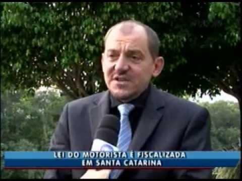 Reportagem da RIC TV Record de Itajaí sobre a fiscalização da Lei do Motorista em SC