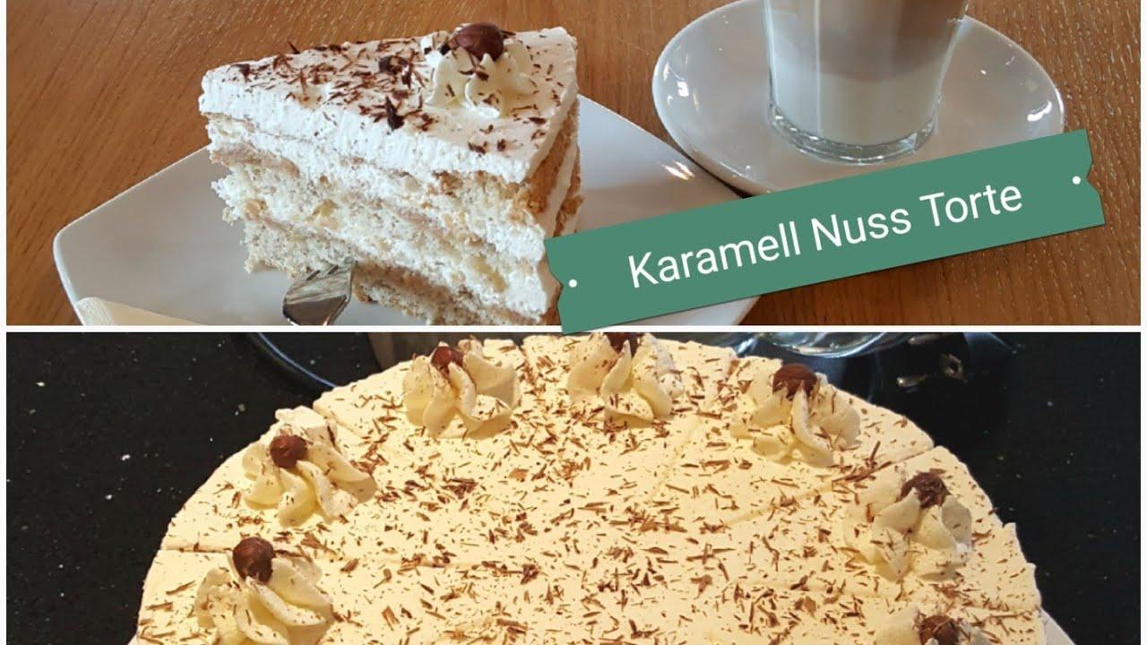 Backen Zum Kaffee Karamell Nuss Torte Backen Karamell Nuss Torte