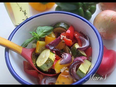 Салат из запеченных овощей с невероятно вкусной заправкой