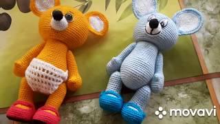 А давайте з'єднаємо миші?!) Оформляємо мордочку і в'яжемо туфельки #вязаныеигрушки