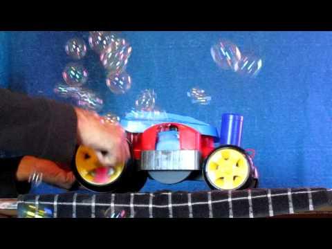 Fisher Price Bubble Mower Using Captain Bubbles Solution