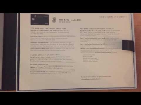Unboxing the new Visa Infinite verison of the JP Morgan Ritz Carlton Rewards credit card