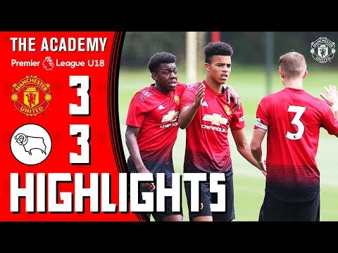 The Academy | Under-18s | Manchester United 3-3 Derby County | Highlights
