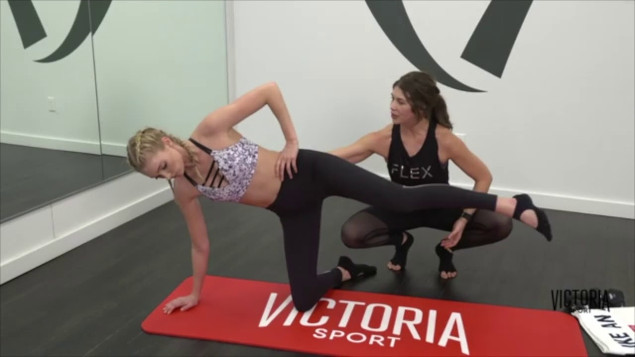 fb2b62fbe56 Victoria s Secret Train Like An Angel  Elsa Hosk + Kim from InStyle at Flex  Studios - Full Workout