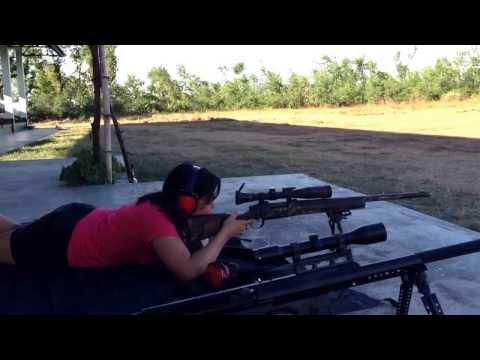 M24 sniper rifle. 350m distance. 1st timer. HIT!!! :D