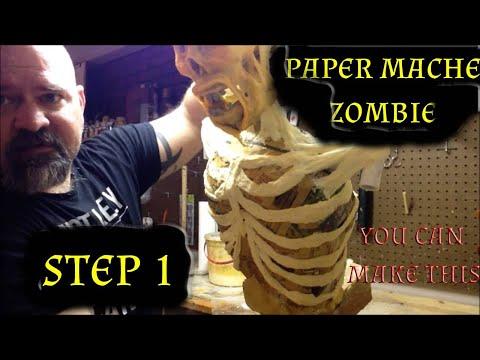 Making a paper mache zombie DIY zombie
