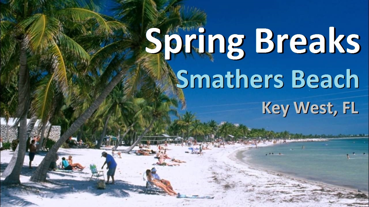 2017 Spring Break Smathers Beach Key West Florida United States Full Hd Video