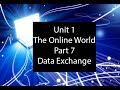 Unit 1 -  The Online World Part 7 - Data Exchange