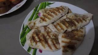 Приготовление аппетитной куриной грудки на гриле Kitfort 1602