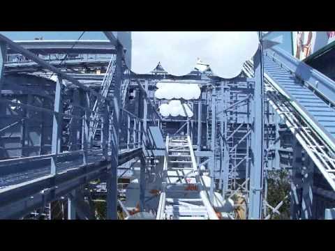 Goofy's Sky School Roller Coaster Front Seat POV Disney California Adventure Theme Park