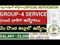 GROUP-4 SERVICE NOTIFICATION . TSPSC NOTIFICATION JUNIOR ASSISTANT , TYPIST,STENO JOB NOTIFICATION