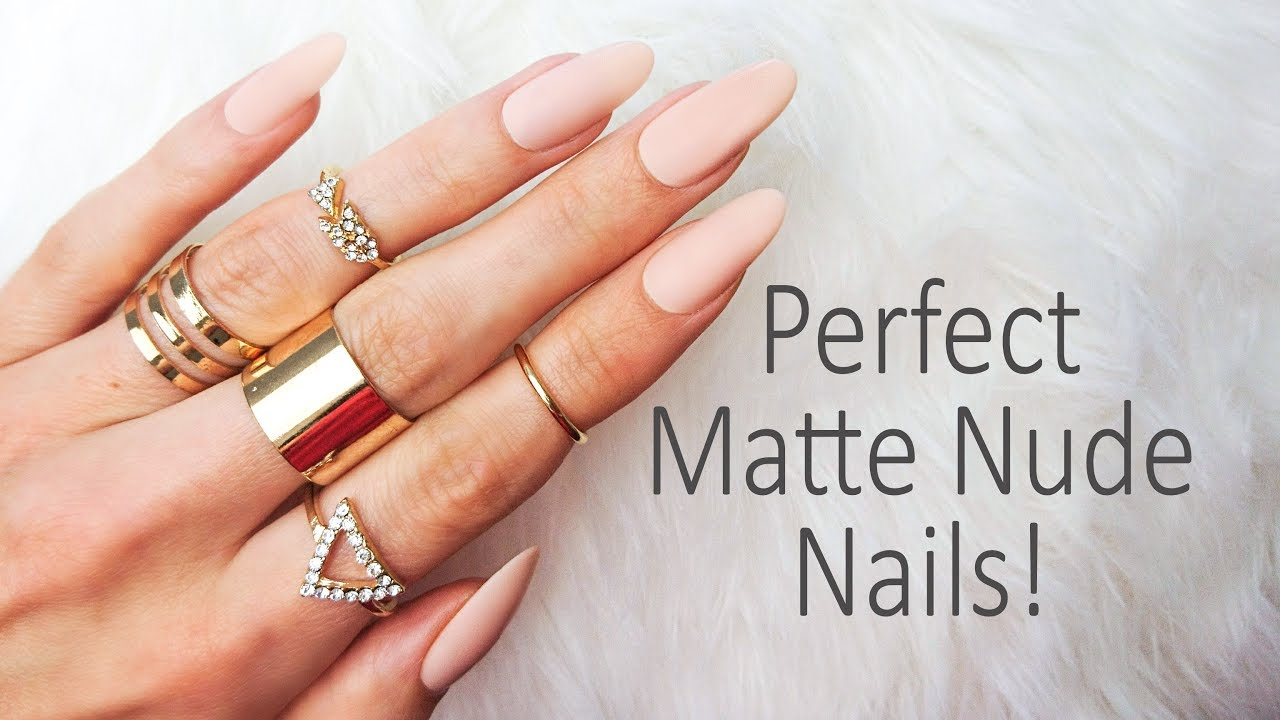 Super easy Express Nail Extensions in Matte Nude ❤ using ...