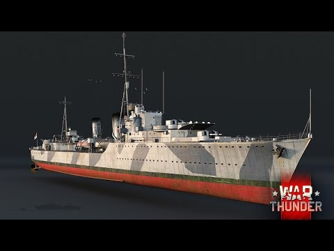 War Thunder - Upcoming Content - Tribal-Class Destroyer