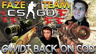 faze cs go team gwidt back on cod fake sniper death red fight red scarce