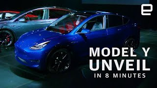 Elon Musk shows off Tesla's latest electric vehicle aimed directly at the highly-competitive midsize SUV segment. Subscribe to Engadget on YouTube: ...