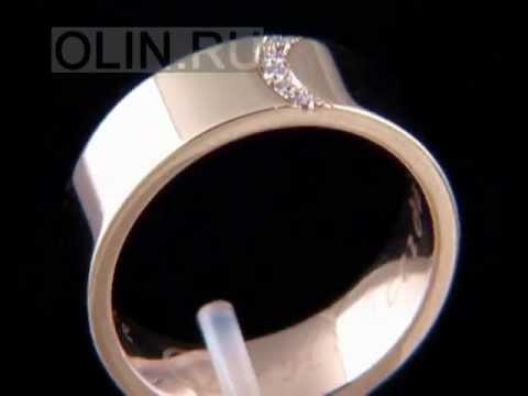 Широкое обручальное кольцо с бриллиантами