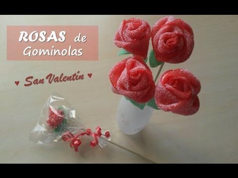 Rosas de chuches o gominolas candy roses san valent n - Manualidades con gominolas ...