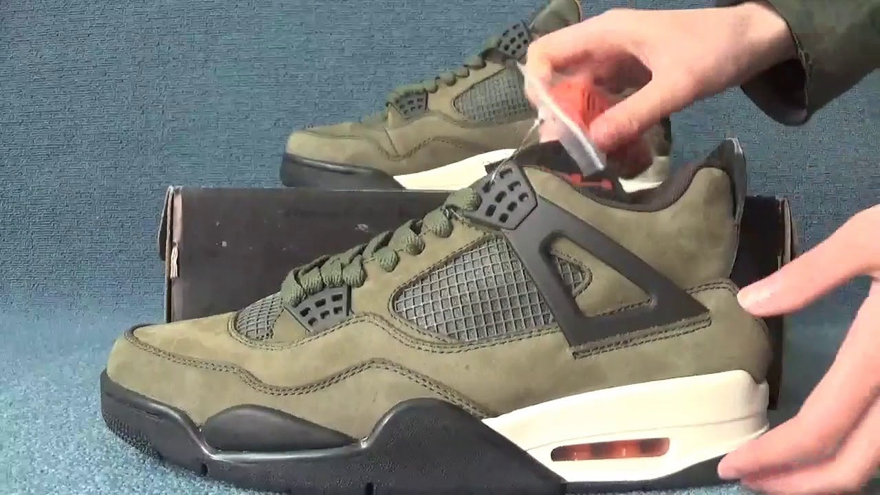 79c4f30fc33 Air Jordan 4 Retro Undefeated Replica - YouTube