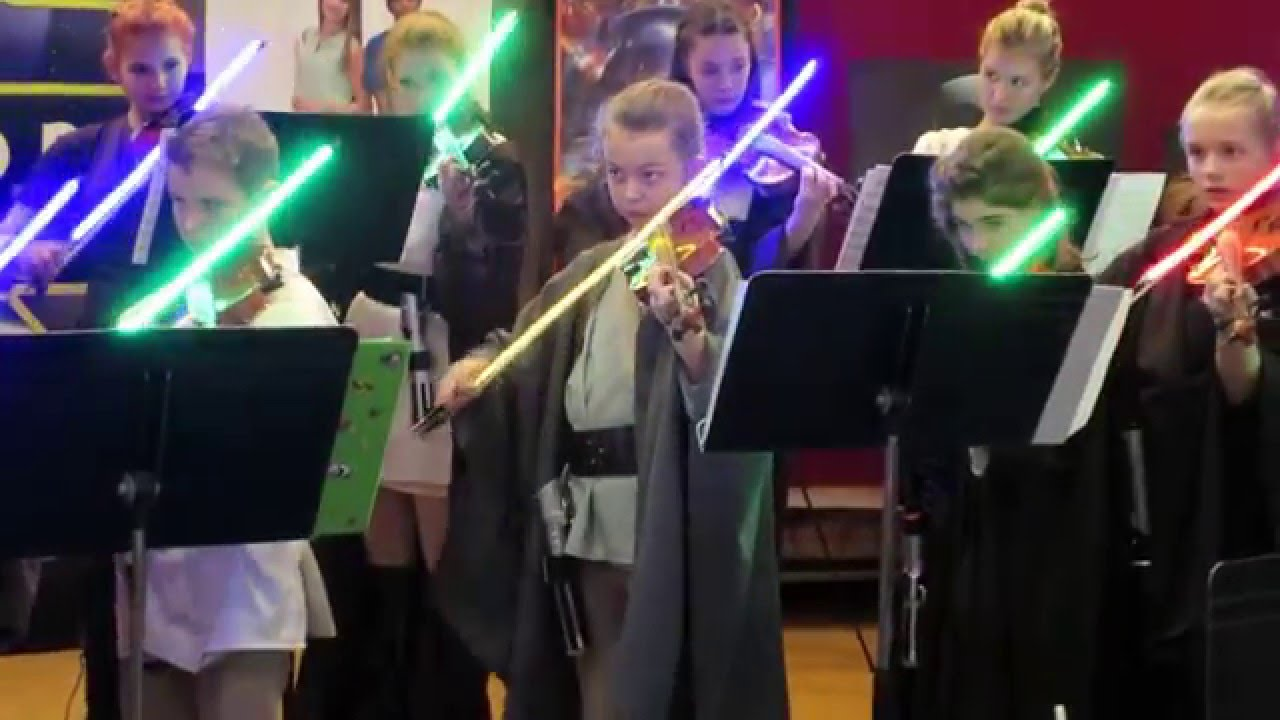 Kid Violinists Played Star Wars Music With Lightsaber Bows