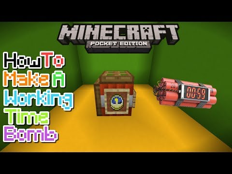 HOW TO MAKE A WORKING TIME BOMB IN MCPE 1.1/1.0.8/1.0.7 | MCPE CREATION | NO MODS