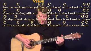 What A Friend We Have in Jesus Hymn Strum Guitar Cover Lesson in C with ChordsLyrics