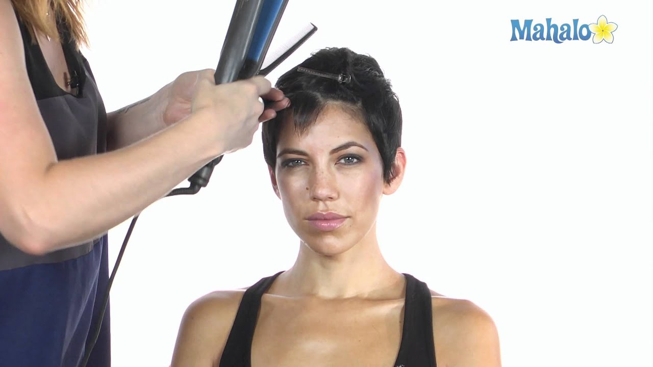 How To Style Short Hair Using A Flat Iron
