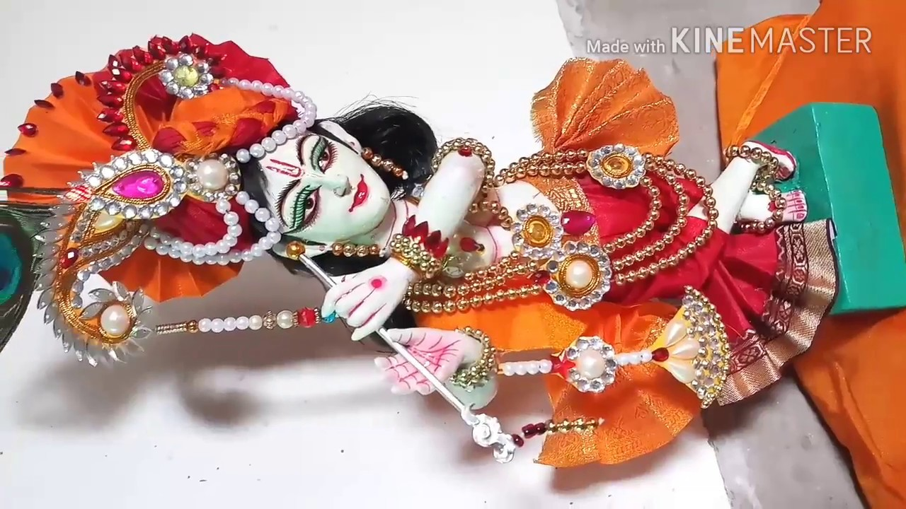 lord krishna idol making