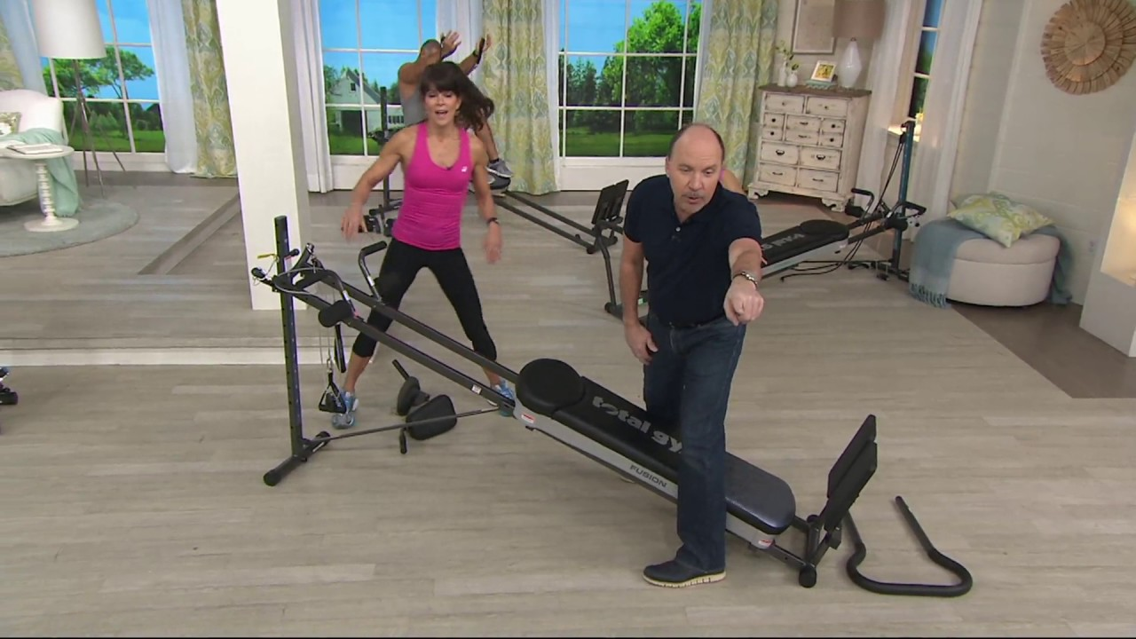 Total gym fusion with step attachment pilates kit on qvc youtube