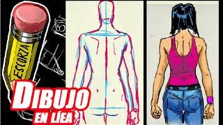 """Como dibujar el cuerpo 6 """"femenino de espalda"""""""