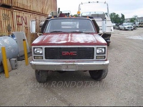 4 sale: 1989 GMC flatbed 3500 4x4 dually 350 57L #1293