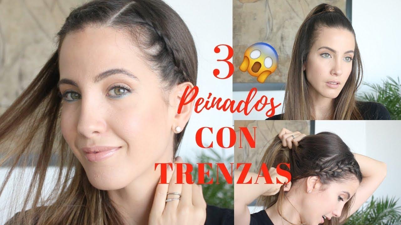 3 Peinados Con Trenzas Oculta El Flequillo En 5 Minutos Youtube