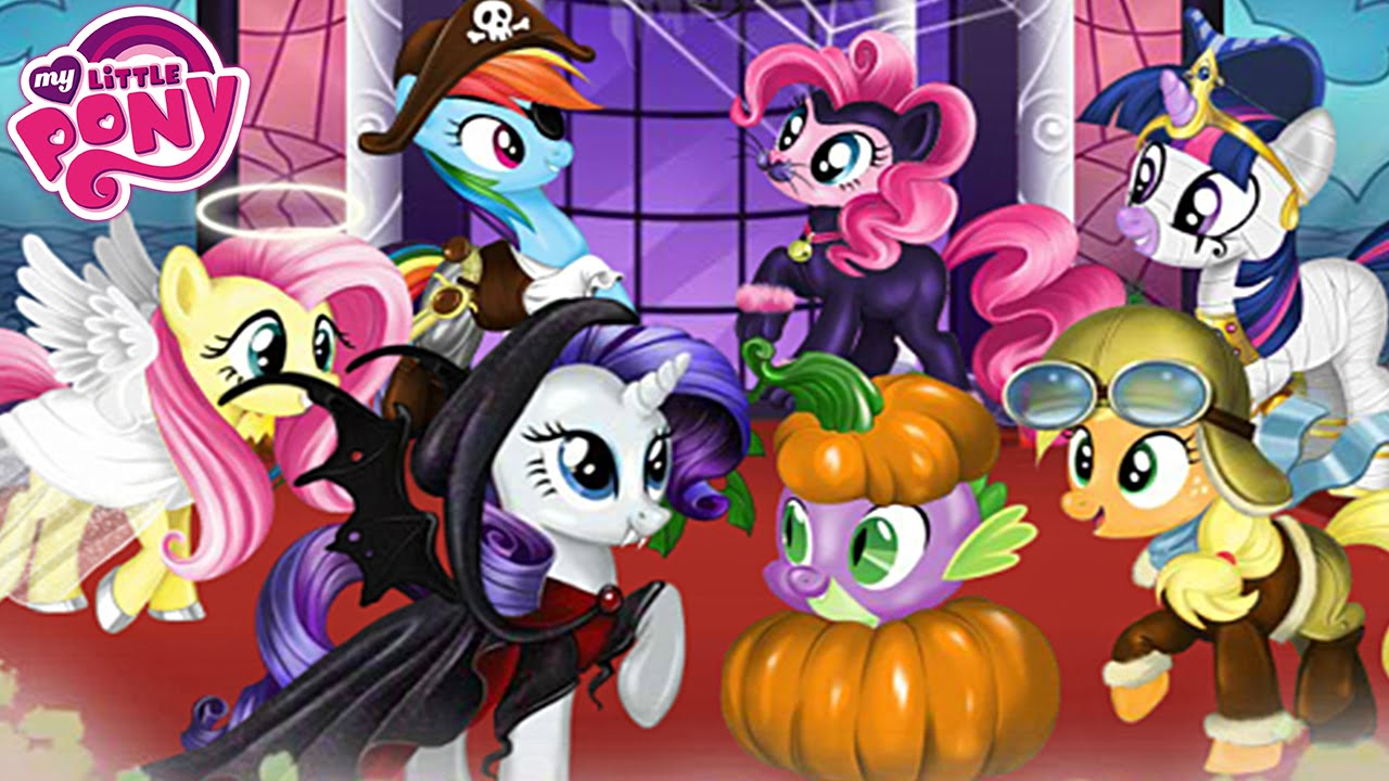 My Little Pony Halloween Party Dress Up Game For Girls - YouTube