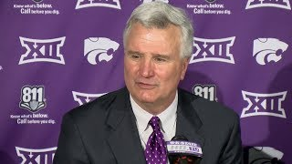 Kansas State Basketball | Bruce Weber gives update on Dean Wade following loss to Iowa State