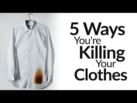 5 Ways You're Destroying Your Clothes | Wardrobe Maintenance Mistakes To AVOID