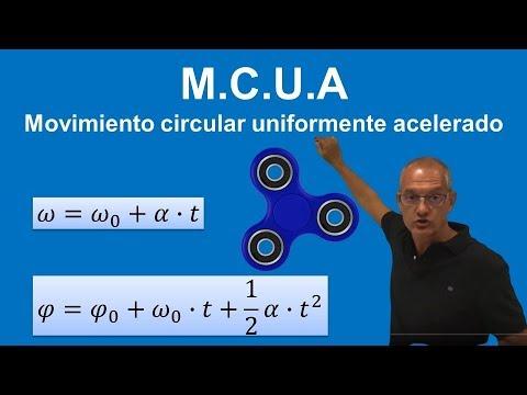 MCUA Movimiento circular uniformemente acelerado