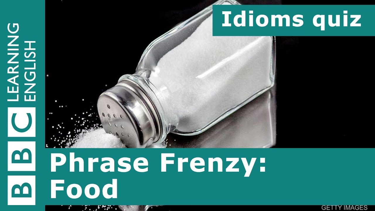 A picture quiz about idioms: Food #1