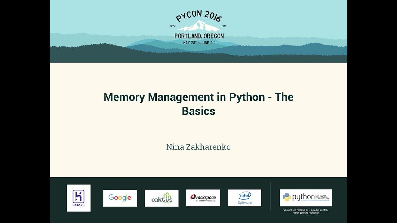 Image from Memory Management in Python - The Basics